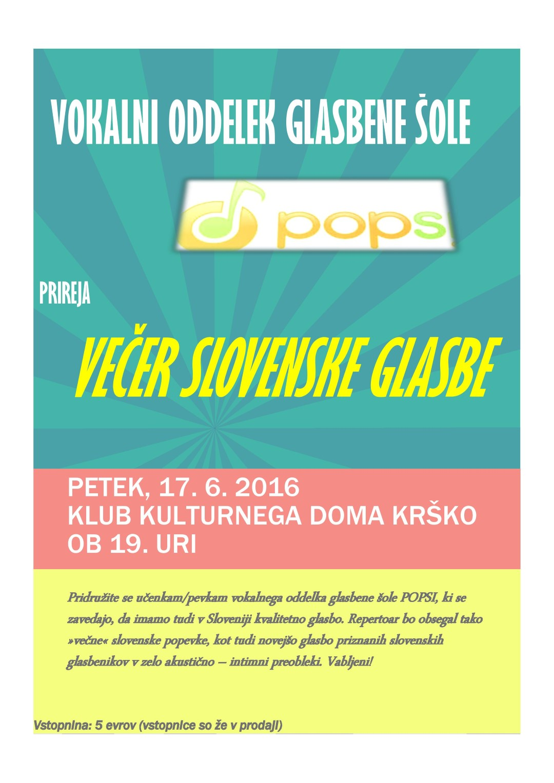 Večer slovenske glasbe