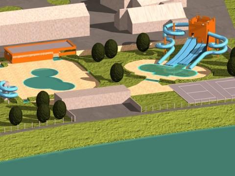 Zimsko-letni bazenski kompleks - razširitev