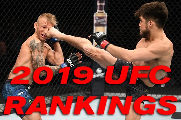 2019 UFC Rankings