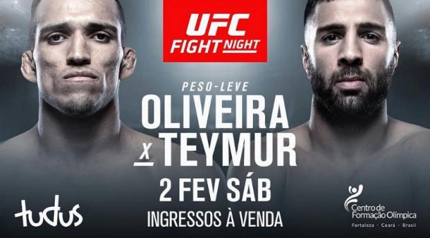 Charles Oliveira takes on David Teymur at UFC Fortaleza