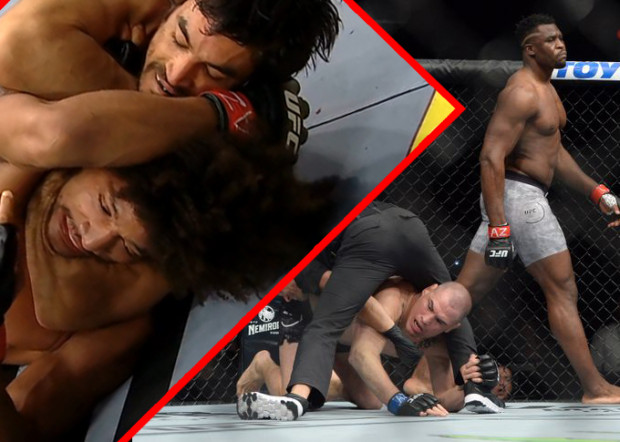 Francis Ngannou TKO and Kron Gracie submission (VIDEO)
