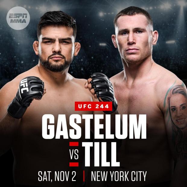 Kelvin Gastelum vs. Darren Till set for UFC 244 in New York