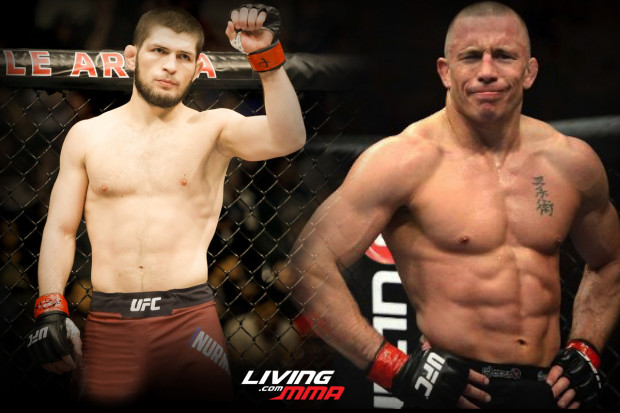 The best matchup for Georges St-Pierre is against Khabib at 165 pounds
