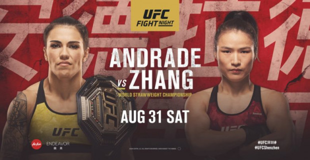 UFC Fight Night: Andrade vs. Zhang - FIGHT CARD