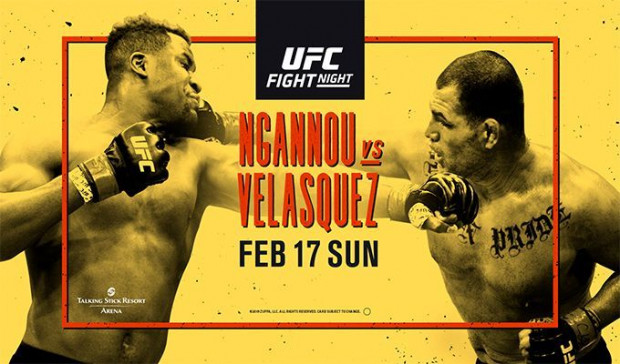 UFC on ESPN 1: Velasquez vs. Ngannou fight card