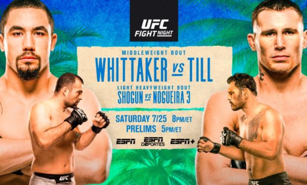 UFC on ESPN: Whittaker vs. Till - FIGHT CARD
