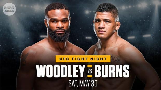 UFC on ESPN: Woodley vs. Burns - FIGHT CARD