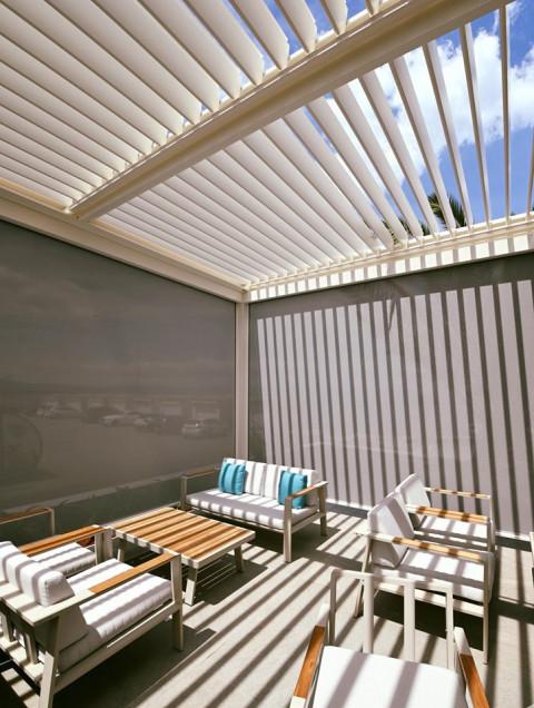Projekt lamelna pergola Luxury Hotel Riva - Lamelna/bioklimatska pergola Misteral - Terasa, brisole, zip rolo