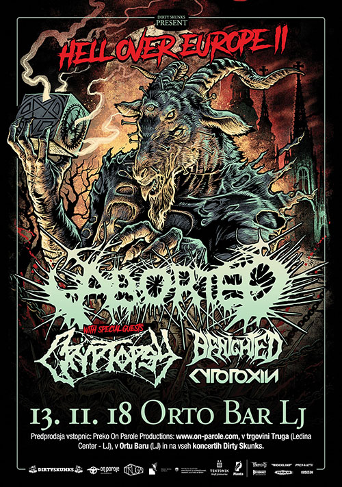 Aborted (Bel), Cryptopsy (Can), Benighted (Fra), Cytotoxin (Ger)