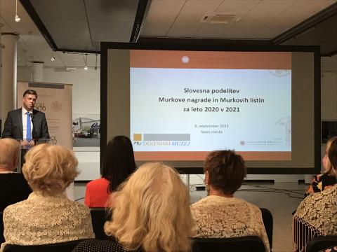 Podelitev Murkove nagrade in murkovih listin za leto 2020 v 2021